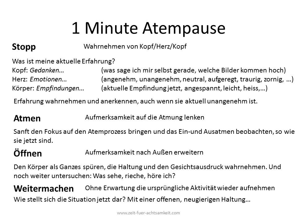 1 Minute Atempause