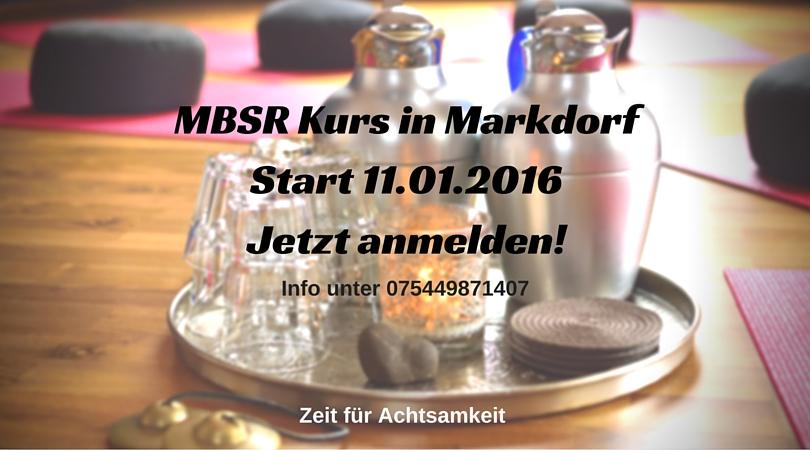 MBSR Kurs Start 11.01.2016 Jetzt anmelden!